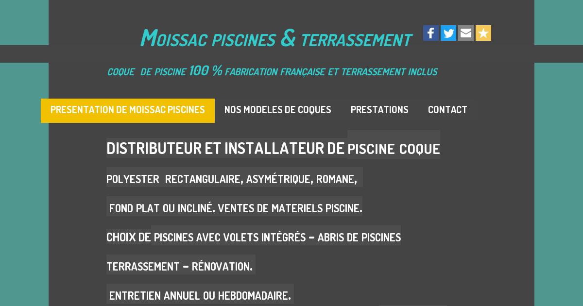 Moissac piscines presentation for Piscines aquinox